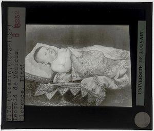 Tiberio di Tito. Leopoldo de' Medici in een wieg