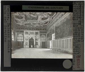 Andrea Vincentino. Gregorio Lazzarini. Fresco's in de Sala dello Scrutinio, Palazzo Ducale, Venetië