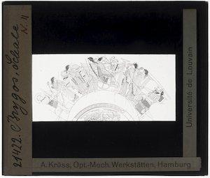 Oud-Grieks aardewerk. Brygos painter. Kylix; Ontwerp: Triptolemos met godinnen