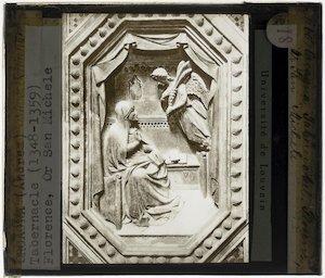 Orcagna. Tabernakel; Detail: Annunciatia aan Maria