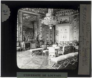 Compiègne. Château de Compiègne; Interieur: Salon des dames d'honneur