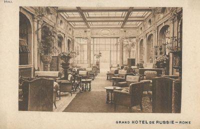 Image from object titled Grand Hotel De Russie, Rome - képes levelezőlap