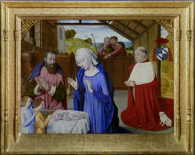 La Nativité; ref: PMa_F_658_Autun; Peinture, Nativité au cardinal Rolin