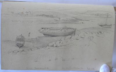 Image from object titled Dummanack House. Gorteenroe House. July 1854; The old salt house Gurteen Roe near Bantry and Gurtnaroe House