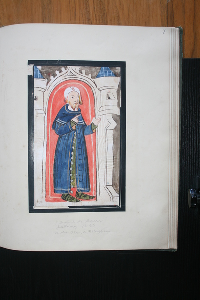 Alexander de Nottingham, Judge (1265-70); Image of Du Noyer's tracings and reproduction work on the Waterford Charter Roll of 1373