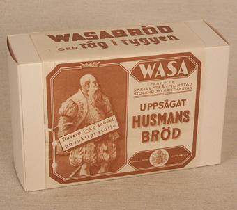 """Image from object titled Förpackning, """"Uppsågat Husmans, bröd"""", 1930-tal"""