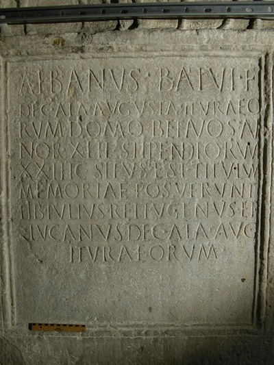 Image from object titled epitaph of Albanus decurio