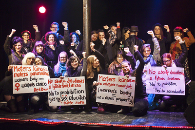 Image from object titled International Feminist and Queer Festival Red Dawns 2014 Crew