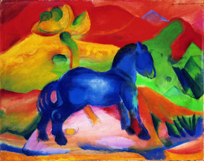 Image from object titled Blue Horse
