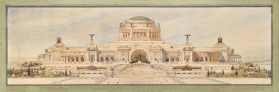Front Elevation for a Monument to the Unknown Soldier