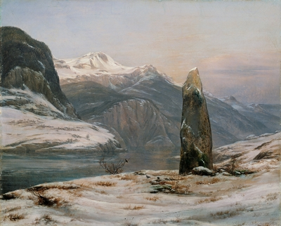 Image from object titled Winter at the Sognefjord