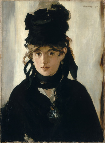 Image from object titled Berthe Morisot au bouquet de violettes