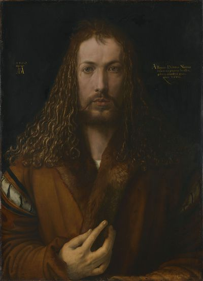 Image from object titled Self-Portrait with Fur-Trimmed Robe