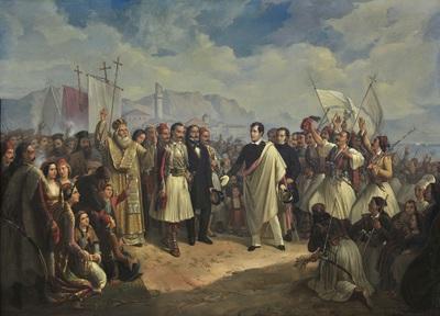 Image from object titled Η υποδοχή του Λόρδου Βύρωνα στο Μεσολόγγι