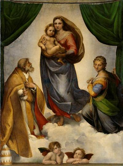 Image from object titled The Sistine Madonna