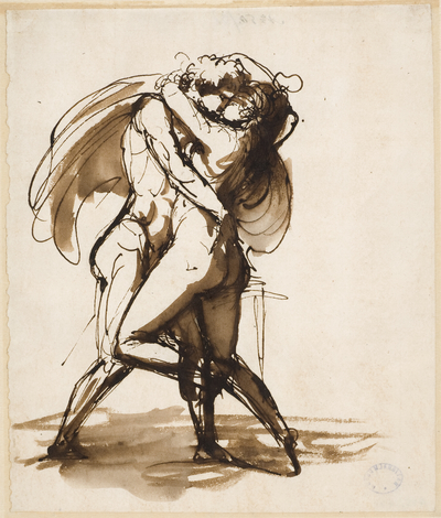 Image from object titled Passionate Lovers