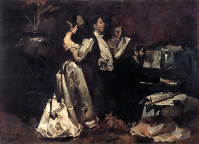Image from object titled An Amateur Concert