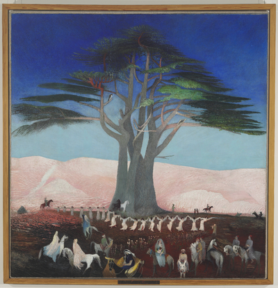 Image from object titled Pilgrimage to the Cedars in Lebanon