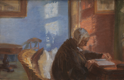 Image from object titled The Artist's Mother Ane Hedvig Brøndum in the Blue Room