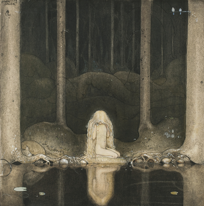 Image from object titled Tuvstarr Still Sitting There and Staring Wonderingly into the Water