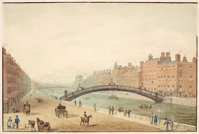 Image from object titled The Ha'Penny Bridge Dublin