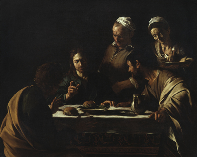 Image from object titled Cena in Emmaus - Supper at Emmaus