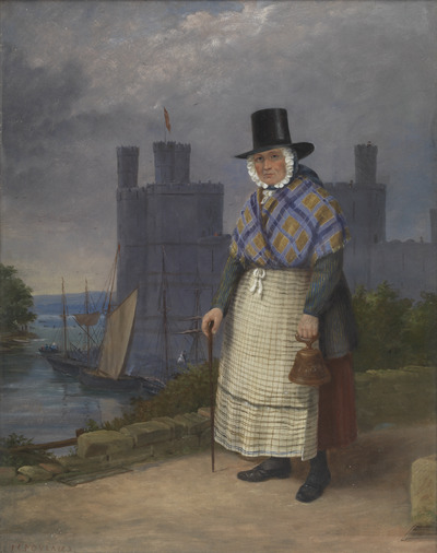 Image from object titled Bellringer of Caernarvon in costume of trade