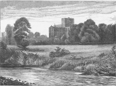 Lanercost Priory from the River Irthing