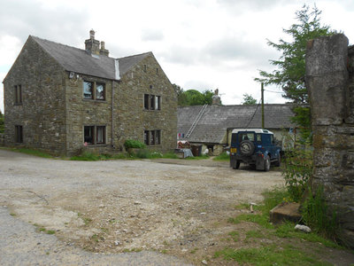 Laneside Farm, Chinley. Farm house. Looking SW from SK024831.