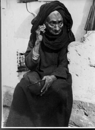 Elderly Yemenite woman