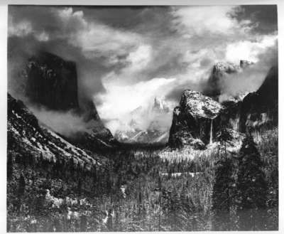 Clearing Winter Storm  Yosemite Valley  California