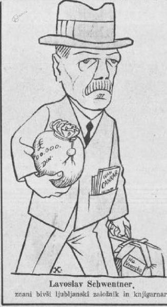 Gasparijeva karikatura založnika Schwentnerja
