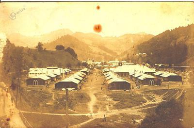 Begunsko taborišče Steinklamm leta 1917