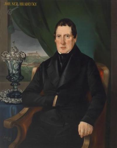 Ljubljanski župan Hradeczky: portret iz delavnice Mihaela Stroja