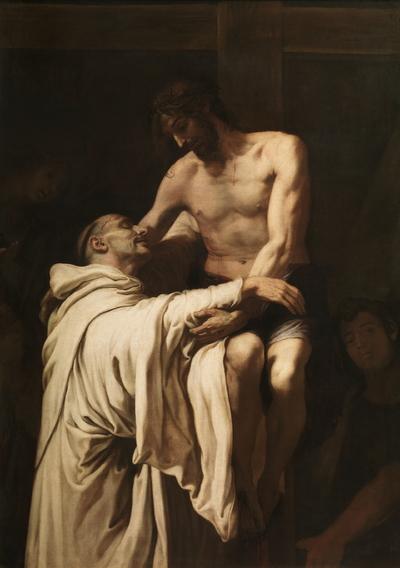 Image from object titled Cristo abrazando a San Bernardo