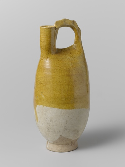 Image from object titled Bottle with a yellow glaze