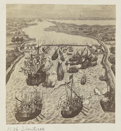 Wandtapijt met het beleg van Zierikzee, 1575