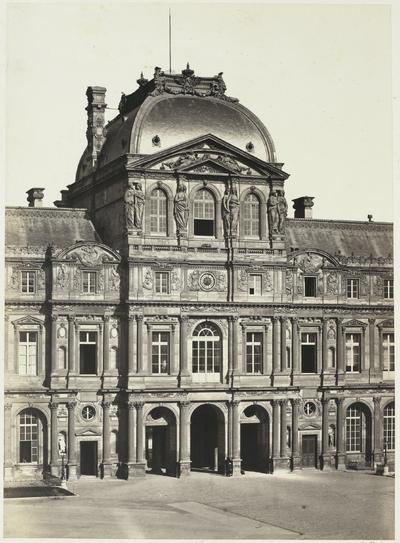 Image from object titled Paviljoen van het Louvre, Parijs