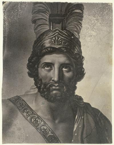 Portret schilderij van Leonidas, koning van Sparta