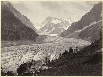 Image from object titled Gletsjer in Zwitserland; Views of Switzerland and Savoy; La mer de glace Montenvers, Chamonix