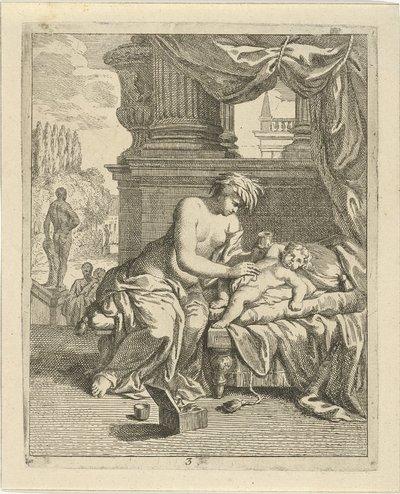 Thetis smeert Achilles in met ambrosia; Scènes uit het leven van Achilles; Vitam et mortem achilli