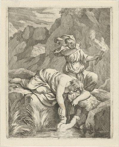 Thetis dompelt Achilles onder in de Styx; Scènes uit het leven van Achilles; Vitam et mortem achilli
