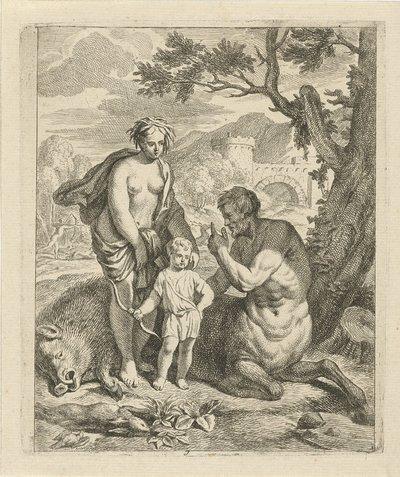 Image from object titled Achilles onderwezen door Chiron; Scènes uit het leven van Achilles; Vitam et mortem achilli
