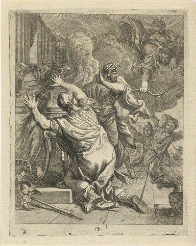 Image from object titled Dood van Achilles; Scènes uit het leven van Achilles; Vitam et mortem achilli