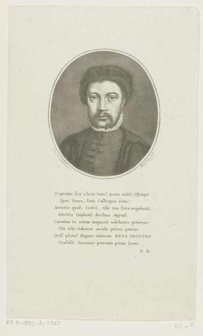 Portret van Janus Secundus