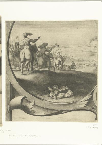 Beleg van Breda (blad met ruiters), 1637