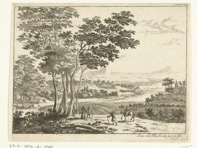 Landschap met wandelaars; Zes landschappen, eerste serie