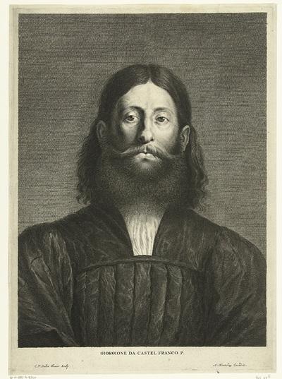Portret van schilder Giorgione; Giorgione da Castel Franco P.; Caelaturae