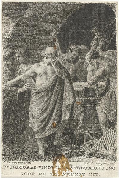 Image from object titled Pythagoras ontdekt de maatverhouding in de tekenkunst