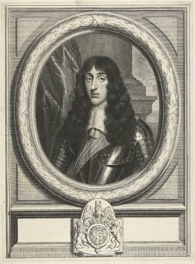 Portret van Henry Stuart in ovale omlijsting